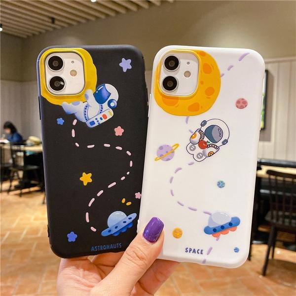 卡通軟殼|蘋果 iPhone12 i11 Pro max i7 i8 Plus SE2 宇航員 卡通少女 兔子 手機殼 有掛繩孔 保護套 軟殼
