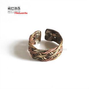 純手工三色銅卡絲戒指