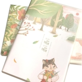 韓國可愛膠套筆記本文具小清晰a5記事本加厚96頁學生日記本4本裝