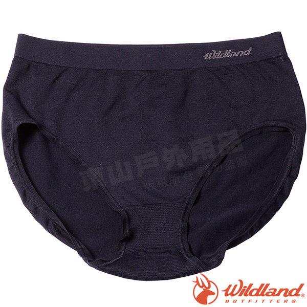 Wildland 荒野 W3661-54黑 女彈性抗菌中高內褲 透氣內褲/快乾內褲/運動內褲/快乾三角褲*