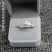 s925純銀微鑲鋯石單圈蛇形戒指女韓版潮人個性男女情侶戒指環飾品