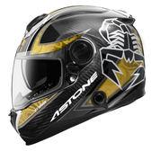 【東門城】ASTONE GT1000F AC9 蠍子(碳纖/金) 全罩式安全帽 雙鏡片