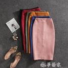 窄裙 春季新款中長款后開叉包臀顯瘦拉鏈半身裙子女士純色鉛筆職業2020 夢藝