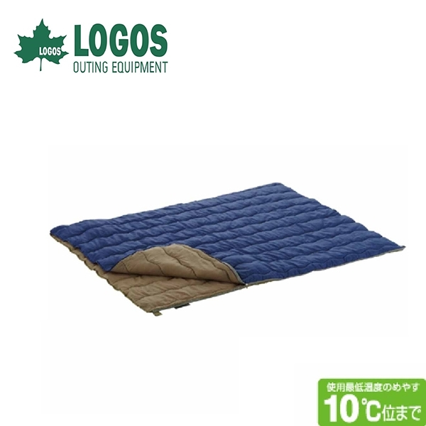 【LOGOS 日本 10度2合一丸洗化纖睡袋】72600670/中空纖維棉/可機洗/睡袋/兩人睡袋