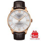 TISSOT 杜魯爾系列 動力儲存80機械腕錶 T0994073603800  玫瑰金