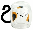 貓咪 耐熱雙層玻璃杯 馬克杯 日本製 250ml
