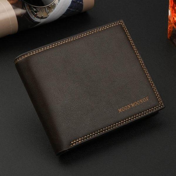 男士錢包短款 橫款正韓商務個性 日韓青年男錢夾學生皮夾軟皮 潮 交換聖誕禮物