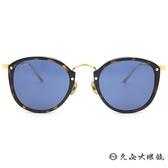 Cartier 卡地亞 太陽眼鏡 圓框 鈦 墨鏡 CT0014S 005 玳瑁-金 久必大眼鏡