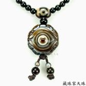 《藏珠家天珠》精品23mm八卦財咒天眼天珠項鍊