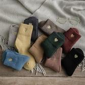 冬季加厚保暖羊毛襪子女中筒襪加絨韓版毛線長襪冬天厚款日系可愛