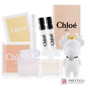 Chloe 同名&白玫瑰經典隨身組(5MLX2+1.2mlX3)多款組合可選+造型擴香石(隨機出貨)【美麗購】