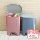 特惠-《真心良品》潘森腳踏式垃圾桶40L...