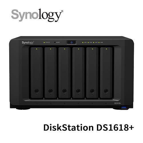 Synology 群暉科技 DiskStation DS1618+ 6Bay NAS 網路儲存伺服器