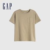 Gap男幼童 純棉舒適圓領短袖T恤 906454-深卡其