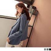 《EA3091》簡約質感直條紋長袖西裝外套--適 2L~6L OrangeBear