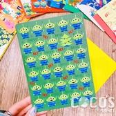 正版 迪士尼 玩具總動員 巴斯胡迪三眼怪 聖誕節卡片 耶誕卡片 大卡片 附信封 I款 COCOS XX001