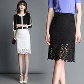 蕾絲半身裙女高腰包臀裙2018夏季新款韓版黑色顯瘦修身短裙一步裙