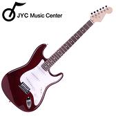 ★JYC Music★嚴選ST1入門研選電吉他(限量紅)加贈4大好禮!!限量