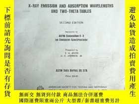 二手書博民逛書店X-ray罕見emission and absorption wavelengths and two-theta