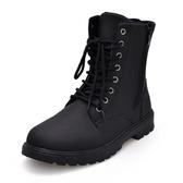 冬季馬丁靴軍靴潮流正韓工裝中筒短靴棉鞋高筒男士雪地加絨男靴子