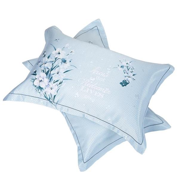 一對裝 冰絲涼感枕頭套外套枕席單人枕套枕套忱頭【聚寶屋】