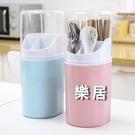 筷籠 家用塑料壁掛式廚房無痕貼筷子筒四格...