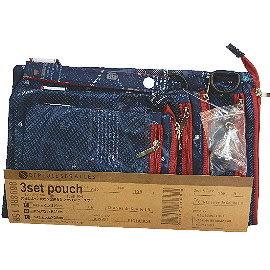 【波克貓哈日網】日系收納用品◇旅行收納袋◇《3個 / 組》藍色