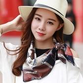 小方巾女韓國裝飾文藝春秋空姐絲巾職業領巾百搭秋季裝飾包包圍巾