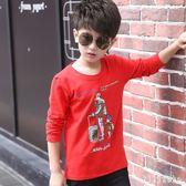 中大尺碼男童長袖T恤 童裝長袖新款兒童休閒棉質圓領打底衫中大童潮流上衣 DR2505【KIKIKOKO】