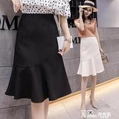 魚尾裙-不規則魚尾裙半身裙a字裙女2021新款夏季裙子一步裙包臀裙中長款