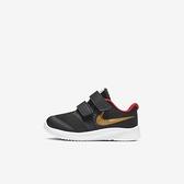 Nike Star Runner 2 (tdv) [AT1803-010]小童鞋 慢跑 輕量 透氣 舒適 魔鬼氈 黑 金