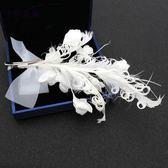 新娘頭飾發永生花朵韓式結婚紗配飾品