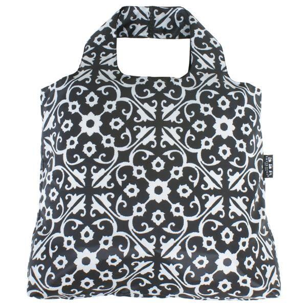澳洲環保購物袋/Etonico 黑白經典系列 - 花磚【ENVIROSAX】