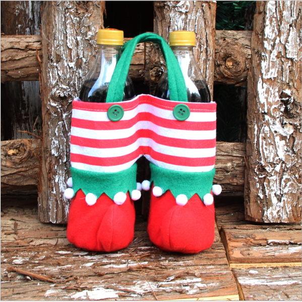 聖誕裝飾品 聖誕精靈袋 聖誕精靈可樂袋 聖誕糖果袋─預購CH2574