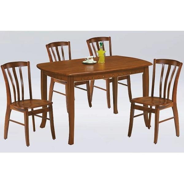 餐桌 PK-554-4 小法式柚木餐桌 (不含椅子)【大眾家居舘】