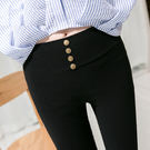 女生簡約時尚緊身褲 新款春季打底褲女褲小...