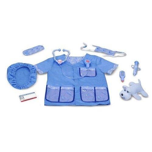 《 萬聖節服裝 》美國 Melissa & Doug- 角色服裝 - 獸醫服 / JOYBUS玩具百貨