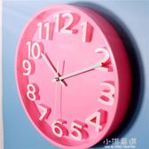 【3D彩色】靜音現代簡約立體數字客廳臥室裝飾壁掛時鐘錶石英鐘『小淇嚴選』