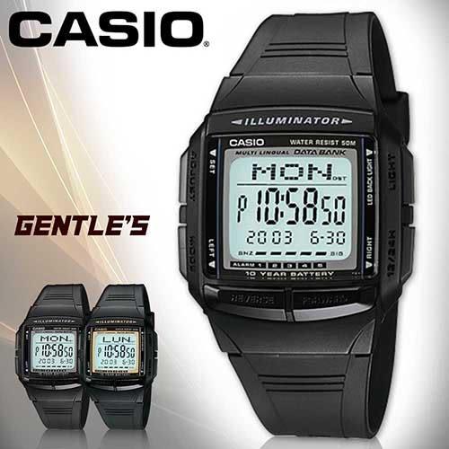 CASIO 手錶專賣店 卡西歐 DB-36 DATA BANK系列 男錶 30組電話備忘 塑膠錶帶  復古黑多功能錶
