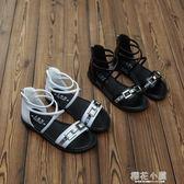 女童涼鞋2018新款夏季兒童羅馬露趾鞋中大童學生涼鞋女孩韓版涼鞋『櫻花小屋』
