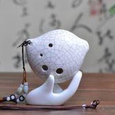 空谷陶笛6孔陶笛AC裂紋親嘴魚專利款初學推薦專用多色選擇初學笛    易家樂