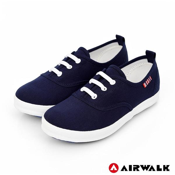 【AIRWALK】百搭經典帆布鞋-童款-丈青
