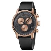 Calvin Klein CK紳士質感計時皮帶腕錶(K2G17TC1)43mm