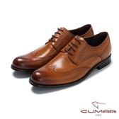CUMAR英倫紳士 經典牛津休閒皮鞋-棕