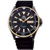 【台南 時代鐘錶 ORIENT】東方錶 RA-AA0005B MAKO III系列兩百米潛水機械錶 黑 橡膠帶 42mm