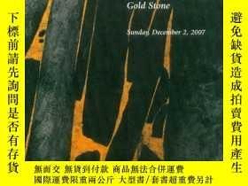 二手書博民逛書店Lot罕見069 Wang Huaiqing Gold Ston