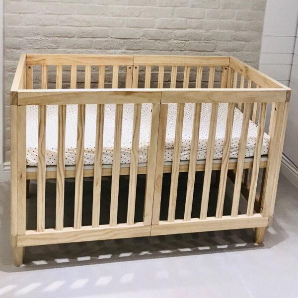 喬依思 La joie 史丹佛6合1多功能書桌嬰兒床-贈4cm床墊-原木色 (120X60)