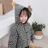 韓系三角幾何球球連帽外套 童裝 外套