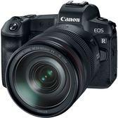 3/31前申請送鏡頭轉接環+原廠電池 24期零利率 Canon EOS R + RF 24-105mm 變焦鏡組 (公司貨)