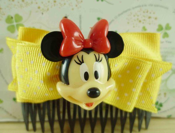 【震撼精品百貨】Micky Mouse_米奇/米妮 ~造型髮髻-黃